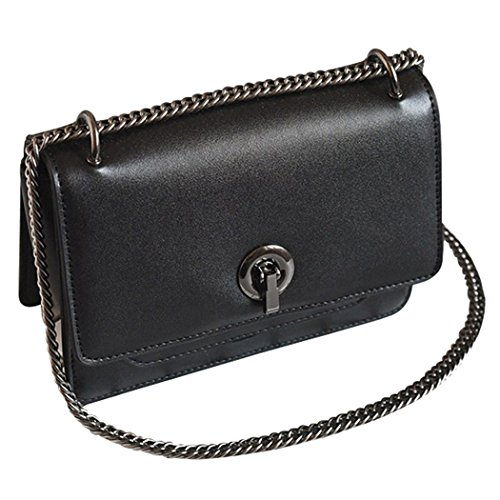 Fanspack Women's Satchel Bag Leisure PU Leather Crossbody Shoulder Bag Messenger Bag Purse with Chain Strap