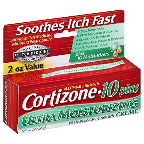 Cortizone-10 Plus Maximum Strength Anti-Itch Creme 2 oz (Pack of 2)