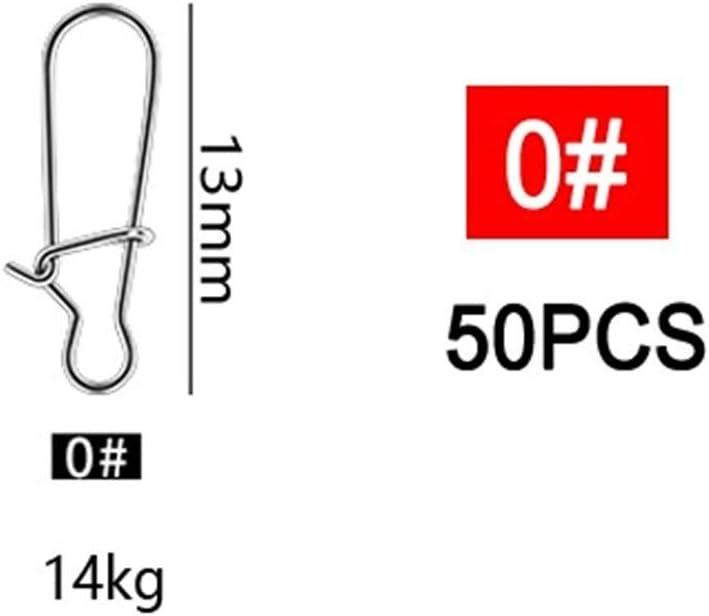 Farbe : 0 AntiGnor 50pcs Edelstahl Fishhook Clip Fast Lock Fischk/öder Snap Wirbel Fest Ringe MOSCHETTONI Fischk/öder Haken-Linie Stecker