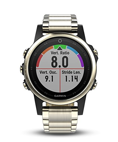 %27 OFF! Garmin fēnix 5S, Premium and Rugged Smaller-Sized Multisport GPS Smartwatch, Sapphire Glas...