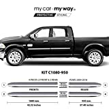 MY CAR MY WAY Chrome Body Side Molding Cover Trim Door Protector (Fits) Ram 1500 2009 2010 2011 2012 2013 2014 2015 2016 2017 2018 6.33' Box Crew