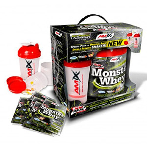 AMIX Monster Whey Protein - 2 kg + 6 x 33gr Lime with yogurt