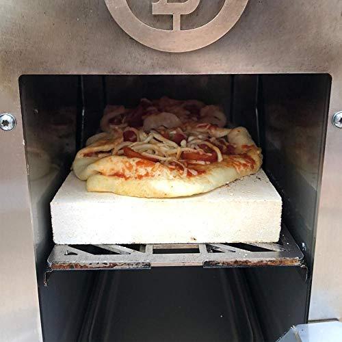 PUR Schamotte Pizzastein 26 x 15 x 3 cm passend für Beefer** hochtemperaturgrill elektrisch