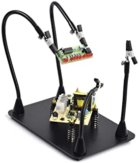 Sponsored Ad – Magnetic Helping Hand Soldering Third Hand Tool Solder Holder, 4 PCB Pillars with Flexible Arms Workbench f...