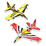 Airplane Toys for Kids 2 Pack Electric Auto Fly Model Plane Toys USB Rechargeable Hand Throw Foam Airplane Birthday Christmas New Year Gift for 3 4 5 6 7 8 9 10 Years Old Boys Girls Kids Party Favor