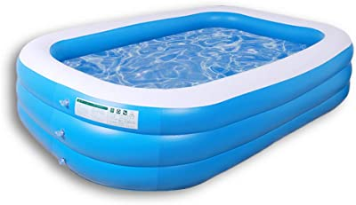 Above Ground Swimming Pool Outdoor Inflatable Kids and Adult Family Thicken Pool Swim Pool for Backyard (Length-2.6 Meters-3 Layer)