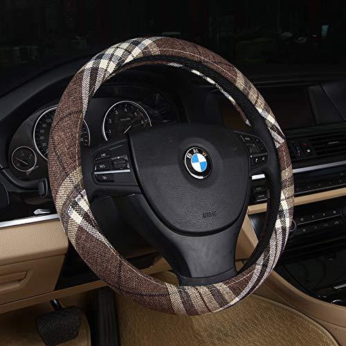 DuoDuoBling Boho Cloth Steering Wheel Cover for Women Men 2019 e46 (Coffee)
