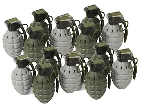 Toy Pineapple Hand Grenades with Sound Effects - 16 Pack