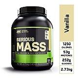 Optimum Nutrition Serious Mass, Mass Gainer Whey protéine, Proteines Musculation Prise de Masse avec Vitamines, Creatine et Glutamine, Vanille, 2.73 kg