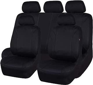 CAR PASS Waterproof Neoprene EVA 11 Piece Universal fit Car Seat Covers, Fit for SUVS,Vans,Trucks,SEDANS,Airbag Compatible,Insider Zipper Design(Black and Black)