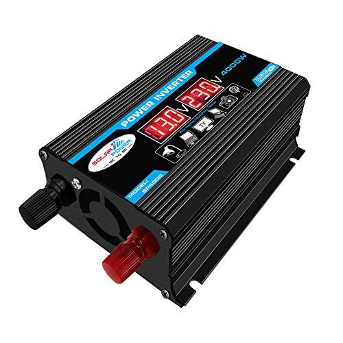Iriisy Inverter 12v 220v Inverter per Auto 4000W Invertitore di Potenza con 2 Porte USB 2.1A per Automobile, Battello a...