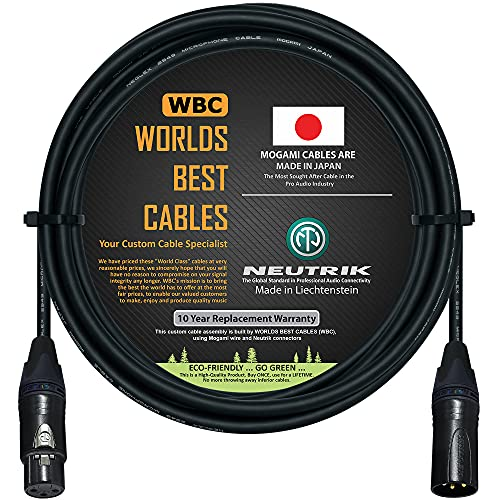 10 Foot - Balanced Microphone Cable CUSTOM MADE By WORLDS BEST CABLES...
