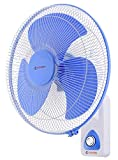 Candes Aura 3 Blade Automatic Oscillation Wall Fan With 2 Year Warranty (White Blue, 400mm)