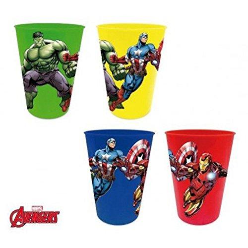 Avengers Set de 4 Verres en Plastique