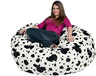 Cozy Sack Bean Bag Chair 5' with 29 Cubic Feet of Premium Foam Inside a Protective Liner Plus Removable Machine Wash Microfiber Cover