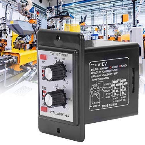 Relé de interruptor de tiempo ATDV-YA Temporizador de encendido y apagado Relé de temporizador Control de perilla de relé para campos industriales