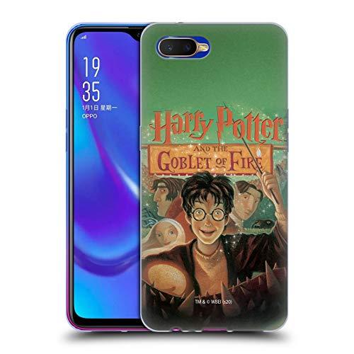 Head Case Designs Oficial Harry Potter Copa De Fuego Cubiertas Literarias Carcasa de Gel de Silicona Compatible con OPPO K1 (2018)
