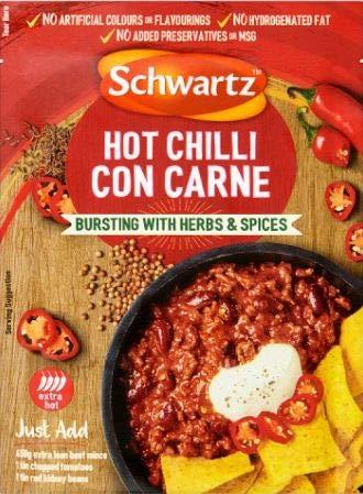 Schwartz Chili Con Carne Receta Mezcla Caliente (41g) (Paque