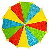 Paracaídas Infantil Grande Arcoiris 12 Pies 12 Asas, Horas De Diversión Y Entretenimiento Para Niños Y Infantil Pequeños, Juguetes De Interior Manta De Picnic Al Aire Libre, Juego De Fiesta