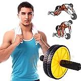 Fitness AB Roller para hombre | 2 ruedas antideslizantes para abdominales, brazos, hombros y espalda | Reforzados entrenando en casa Trainer Home ABS Workout