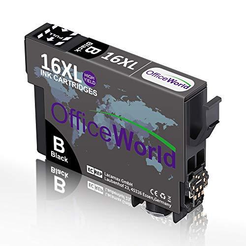 OfficeWorld - Cartuchos de tinta para Epson 16 16XL compatibles con Epson Workforce WF-2750 WF-2760 WF-2010 WF-2630 WF-2510 WF-2520 WF-2660 WF-2540 WF-2650 WF-2530 (15 unidades)