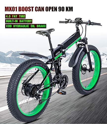 SHIJING Bicicleta eléctrica 1000W eléctrica Bici de la Playa 4.0 Fat Tire Bicicleta eléctrica de 48V para Hombre de Bicicleta de montaña de Nieve E- Bici de la Bicicleta de 26 Pulgadas: Amazon.es: