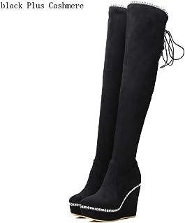 outlet store 216ec 3ce0c Amazon.it: stivali con zeppa alta