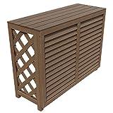 アイガーデン 室外機カバー 1010サイズ i10168db 人工木製 ダークブラウン 組み立て式 1台