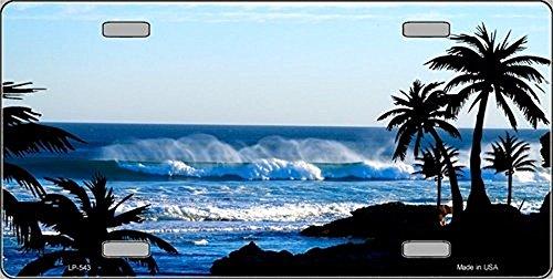 Ocean Wave Vanity Metal Novelty License Plate Tag Sign by Pride Plates