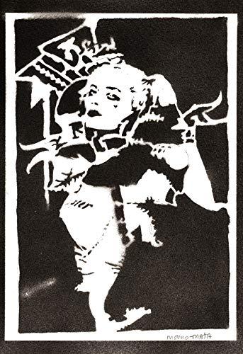 Poster Harley Quinn Affiche Suicide Squad Handmade Graffiti Street Art - Artwork