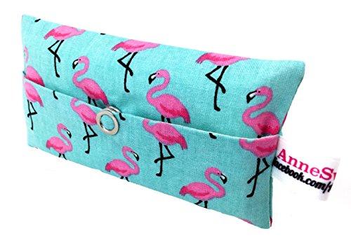 Taschentücher Tasche Flamingo türkis pink Design Adventskalender Befüllung Wichtelgeschenk Mitbringsel Give Away Mitarbeiter Weihnachten