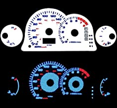 High performance parts Reverse Blue El Glow White Gauge for 00 01 02 03 04 05 Mitsubishi Eclipse L4 at