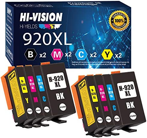 8 Pack HI Vision Compatible HP 920XL Ink Cartridge Replacement for HP 920 OfficeJet 6000 6500 product image