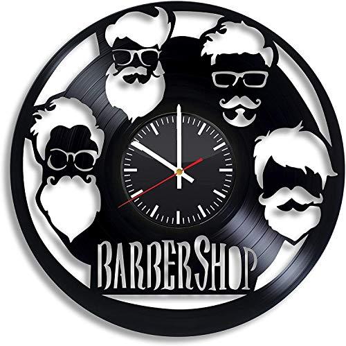 Negozio di barbiere Salone da uomo Lord of Vinyl Orologio da parete Disco in vinile Orologio parete retrò Compleanno Capodanno Regalo di compleanno Natale Personalità creativa decorazione della parete