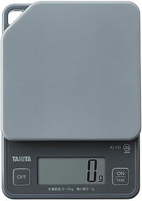タニタ デジタルクッキングスケール グレー 最大計量2kg 最小表示1g