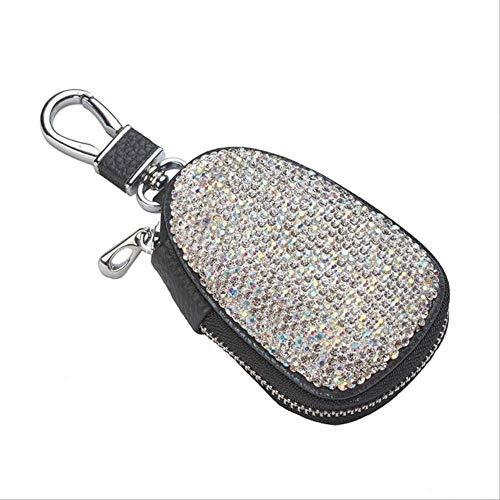 Caso clave caseLeather clave for el coche universal Blingling cristalino del coche bolsa clave T1153-2 KaiKai (Color : T11521)