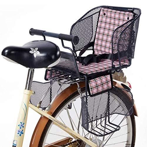 Silla Bicicleta Nino Trasera Universal para MTB, Asiento Trasero De Seguridad para Bebé con Cinturón De Seguridad, Reposabrazos Antideslizantes Y Pedales Acolchados
