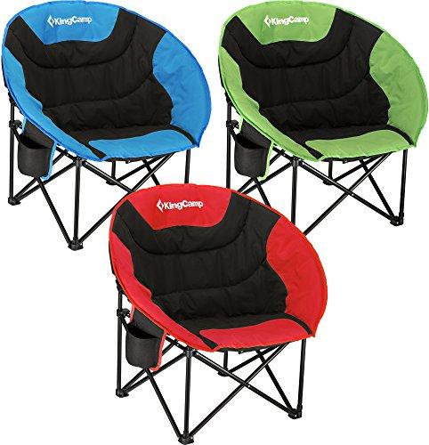 KingCamp Moon Chair Campingstuhl klappsessel mit Rückentasche und Getränkehalter