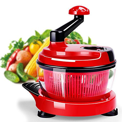 KCASA KC-MFP1 Multifunctionele Food Processor Kitchen Handmatige Food Chopper Mixer Salad Maker