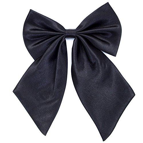 Damen Fliege Schleife Binder Schlips - 28~49 cm Länge Verstellbare Bowknot Krawatten (Schwarz)