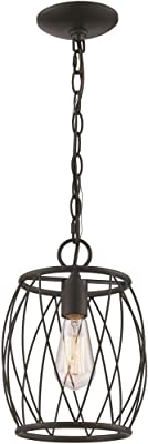 Trans Globe Imports PND-2022 ROB One Light Pendant from Rhythm Collection 7.75 inches, Rubbed Oil Bronze