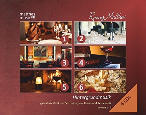Hintergrundmusik: Vol. 1-6 (6 CD-Box) - Gemafreie Musik zur Beschallung von Hotels und Restaurants (inkl. Klaviermusik zum Entspannen und Träumen)