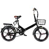 LXLTLB 20in Bicicleta Plegable Urbana Unisex Adulto Portátil Folding Bike Velocidad Variable Absorción Choque Bicicleta Plegable,B