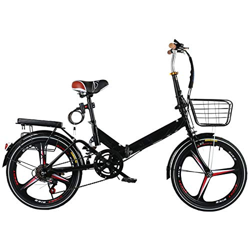 LXLTLB 20in Bicicleta Plegable Urbana Unisex Adulto Portátil Folding Bike Velocidad Variable Absorción Choque Bicicleta Plegable,B