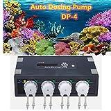 Laecabv Auto Dosing Pump Aquarium Automatica dosaggio Pompa dosatrice vasche Marine Reef Elementi Aquarium Aquarium Pompe d'Acqua (DP-4)