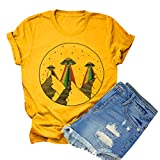Funny Black Cat Shirt Women I Do What I Want Letter Print Tops Cute Cat Graphic Tee (Yellow-S, S) (Apparel)