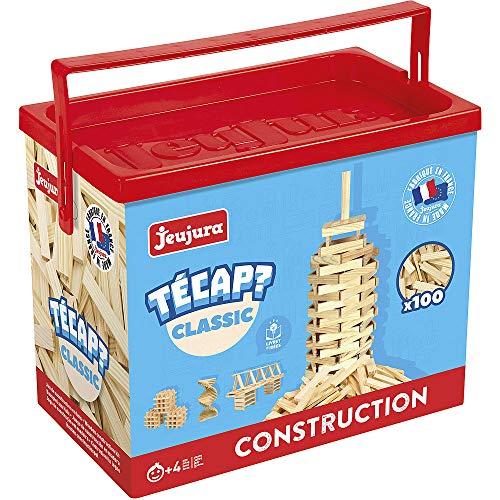 Jeujura - 8331- Jeux de Construction-Tecap Baril de Planchettes Classic - 100 Pieces