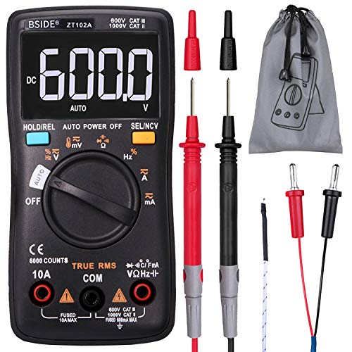 BSIDE Multímetro digital inalámbrico True RMS manual y automático 6000 cuentas DMM capacitancia temperatura amperios ohmios ciclo de servicio medidor de voltaje