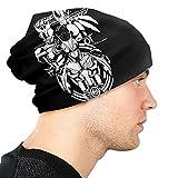 DHZZ Ka-Men Ri-Der Adult Men's Knit Hat, 3D Patterned Beanie Hat Unisex Adult Hats,Cap,Balaclava,Half Balaclava Black