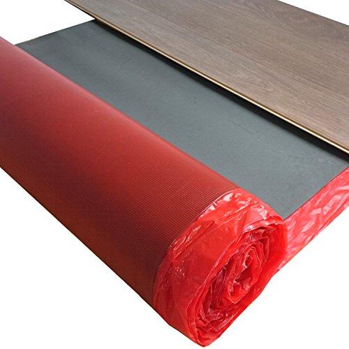 Laminat Trittschalldämmung uficell Multisound Aquastop 2 mm Stark mit PE Folie / Dampfsperre - Trittschalldämmung ca. 22 db - Gehschallverbesserung ca. 20 % - Dichte: 110 kg/m³ - TOP bei Fußbodenheizung - 15 m² Rolle